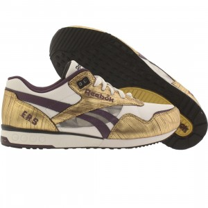 Reebok Womens ERS Racer - MI Generation (white / gold / purple / black)