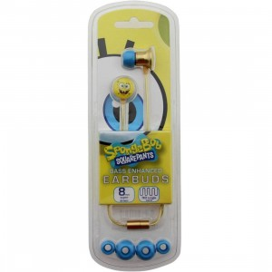 Spongebob Metal Earbuds (yellow / blue)