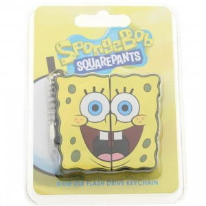 Spongebob 4GB Rubber USB Flash Drive Keychain (yellow)