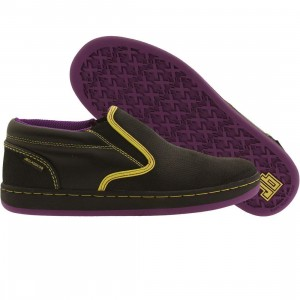 JB Classics Malta Slip Perfs (black / yellow / purple)